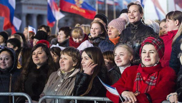 Празднование годовщины Крымской весны в Крыму. Архивное фото