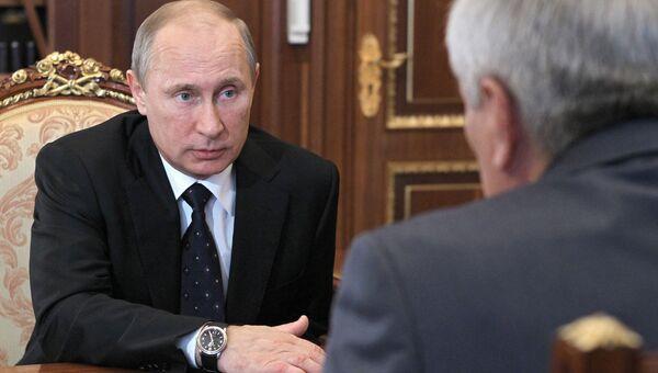 Встреча президента РФ В.Путина с Ю.Чиханчиным в Кремле