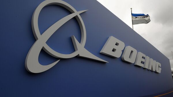 Логотип авиакомпании Boeing. Архивное фото