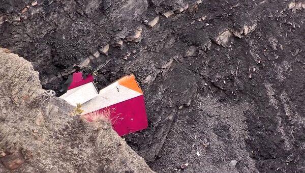 Обломки самолета Airbus A320 авиакомпании Germanwings. Архивное фото