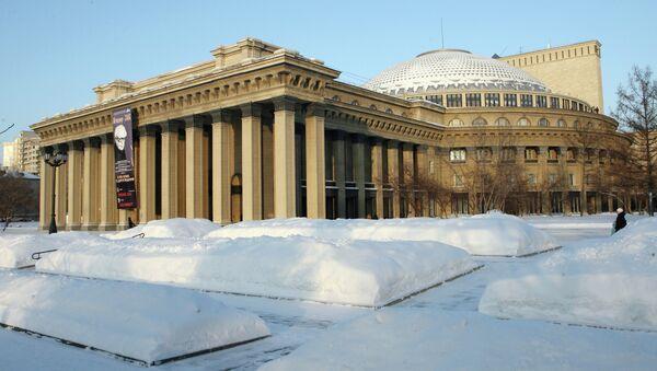Здание Новосибирского государственного академического театра оперы и балета. Архивное фото