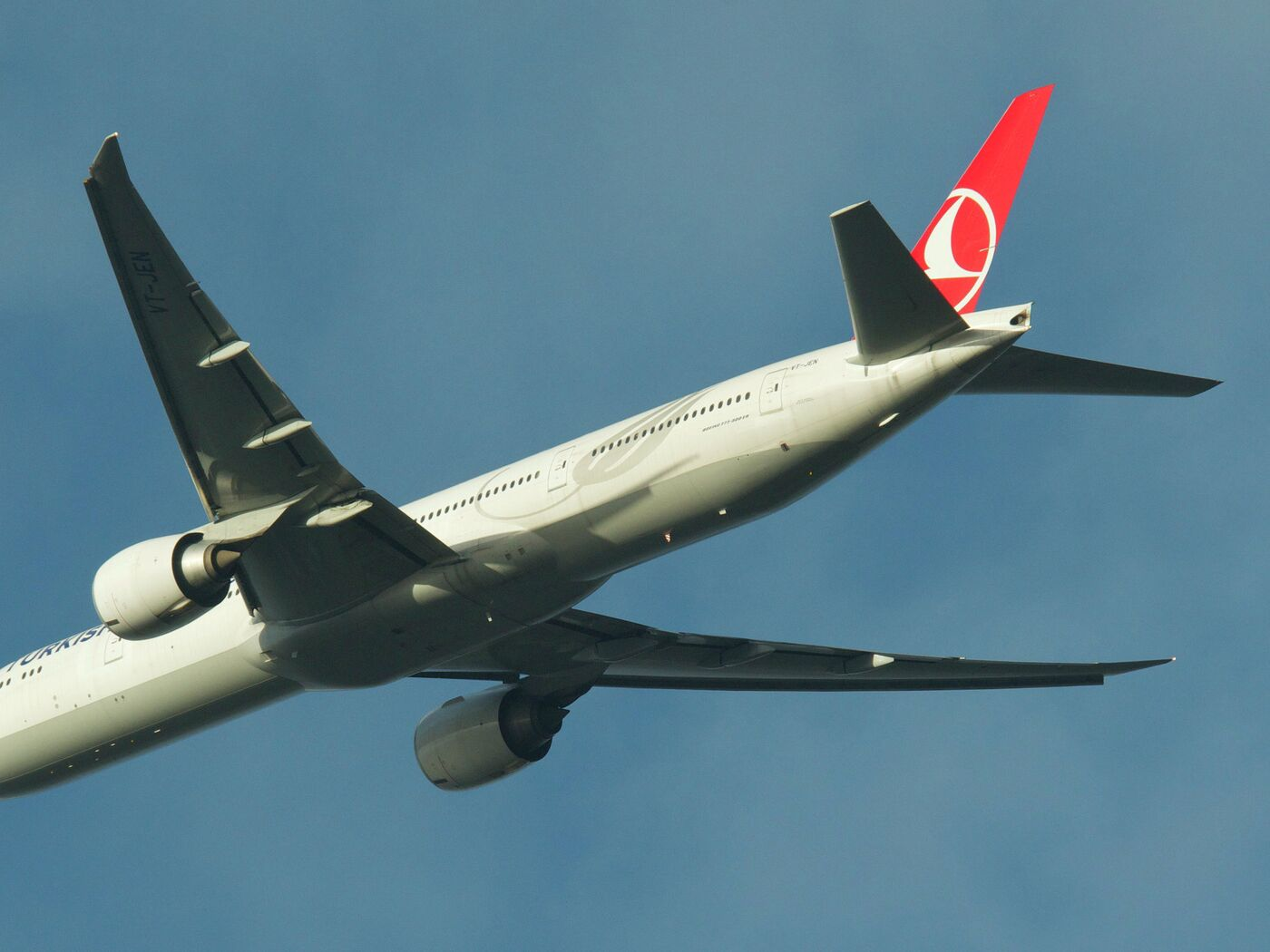 Обои Turkish airlines, В полете, boeing-777, Самолёт. Авиация foto 12