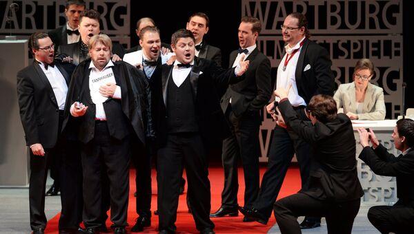 Премьерный показ оперы Рихарда Вагнера Тангейзер на сцене Новосибирского государственного театра оперы и балета. Архивное фото