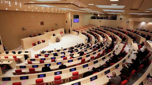Заседание парламента Грузии. Архивное фото