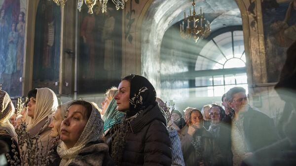 Освящение вербы в Омске