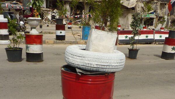На улице Хомса. Сирия