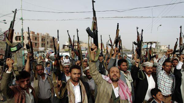 Сторонники хуситов в столице Йемена Сане