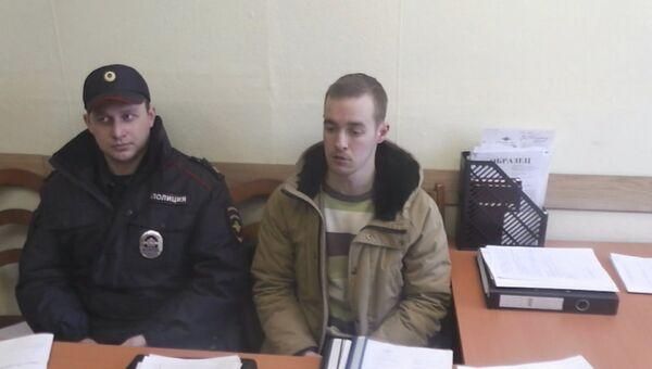Задержанный сотрудник одной из компаний, которые устанавливали интернет-оборудование в вагоны метрополитена