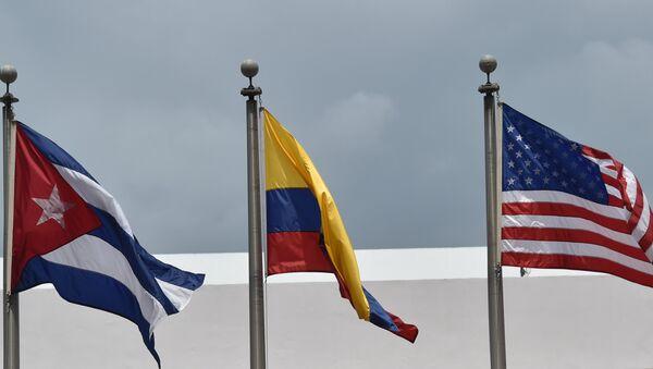 Флаги стран-участниц Саммита Америк. Архивное фото