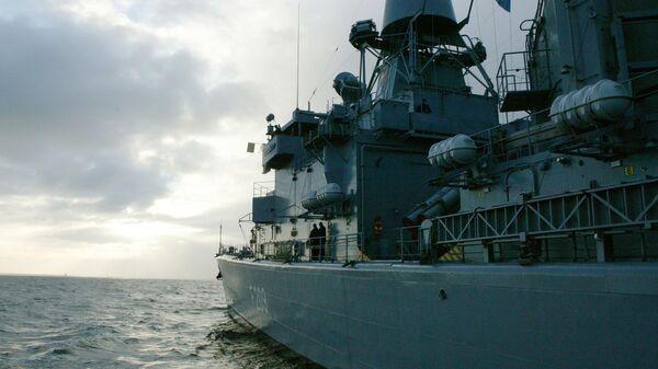 Боевой корабль НАТО. Архивное фото.