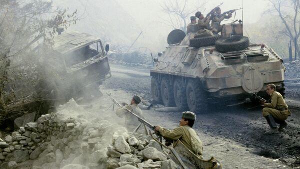 Бой на дороге в Афганистане. Архивное фото