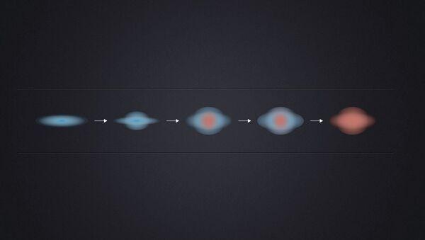 Схема угасания звездообразования в эллиптических галактиках