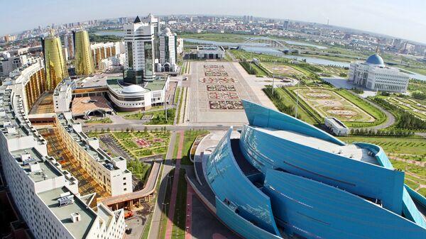 Вид с воздуха на Астану