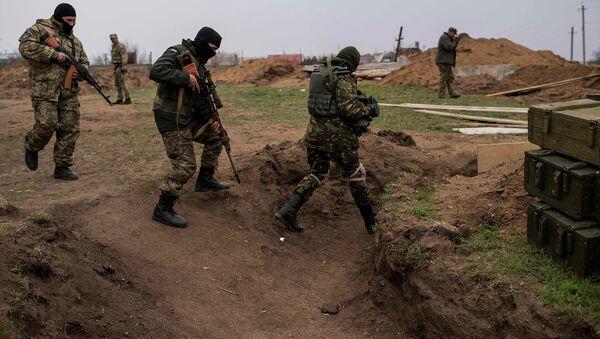 Солдаты ВСУ неподалеку от Широкино, Донецкая область