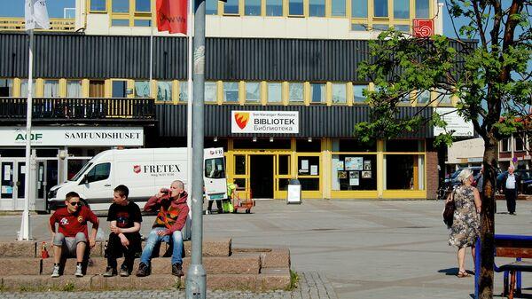 Город Киркенес в Северной Норвегии, недалеко от российской границы. архивное фото