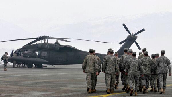 Вертолеты НАТО в Подгорице, Черногория. Архивное фото.
