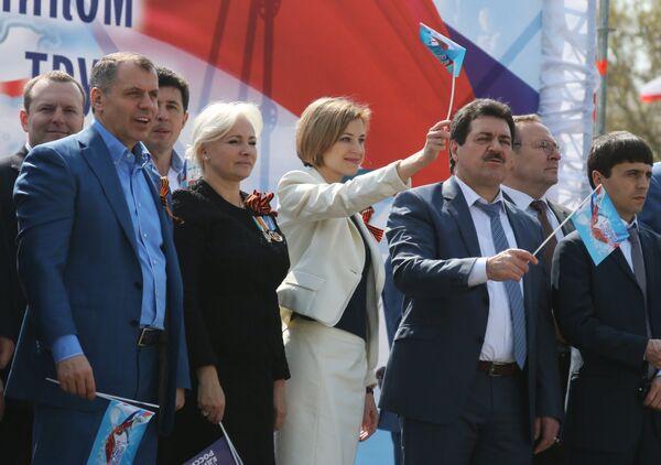Первомайское шествие в Симферополе