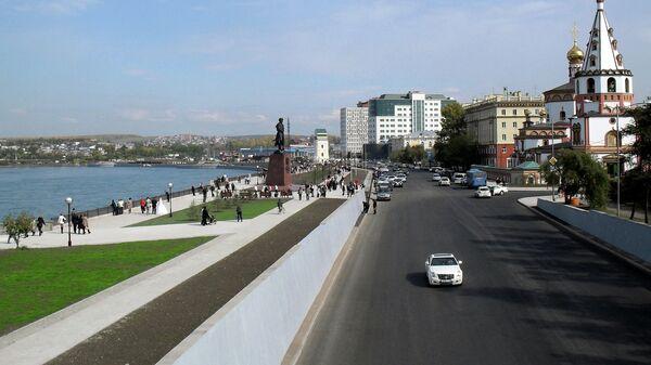 Нижняя набережная Ангары, Иркутск. Архивное фото