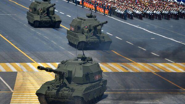 Самоходные артиллерийские установки (САУ) Коалиция-СВ. Архивное фото