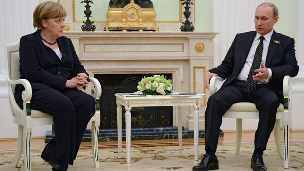 Президент России В.Путин встретился с канцлером Федеративной Республики Германия А.Меркель