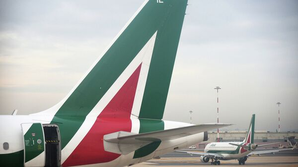 Cамолеты компании Alitalia
