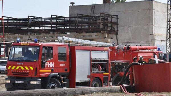 Пожарная машина МЧС Азербайджана. Архивное фото
