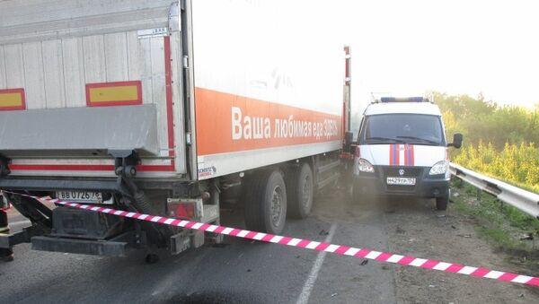 ДТП с автобусом, перевозившим детей из Казани, в Нижегородской области .Архивное фото