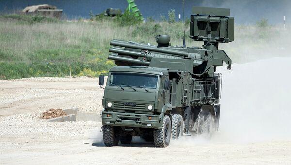 Самоходный ЗРПК наземного базирования Панцирь-С