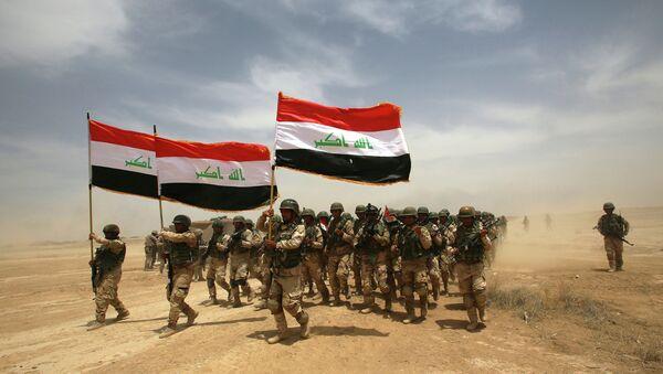 Иракские солдаты на учениях под руководством испанских и американских военных возле Багдада. Архивное фото