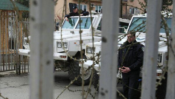 Специальные части международной полиции ООН с участием военнослужащих украинско-польского общего миротворческого батальона Укрполбат