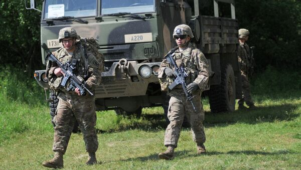 Американские военные во время учений на Украине. Архивное фото