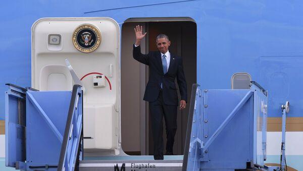 Барак Обама прибыл в Германию для участия в саммите G7, 7 июня 2015