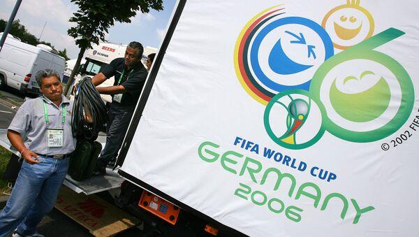 Символика чемпионата мира по футболу 2006 года в Германии. Архивное фото
