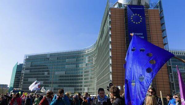 Акции протеста в Брюсселе. Архивное фото