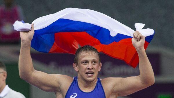 Российский борец греко-римского стиля Евгений Салеев стал победителем Европейских игр в Баку в весовой категории до 80 кг