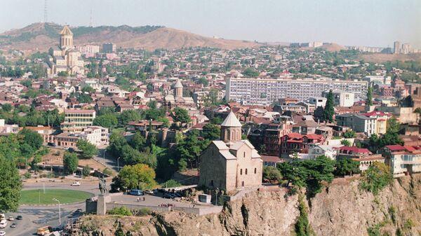 Панорама Тбилиси. Грузия. Архивное фото