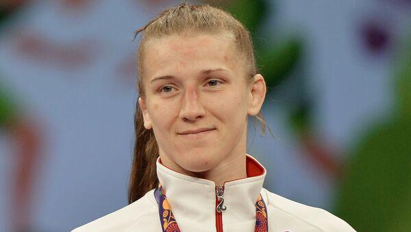 Валентина Исламова-Брик (Россия), завоевавшая бронзовую медаль в вольной борьбе на Играх в Баку