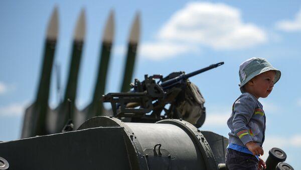 120-мм самоходное артиллерийское орудие 2С31 Вена на международном военно-техническом форуме АРМИЯ-2015 в Московской области