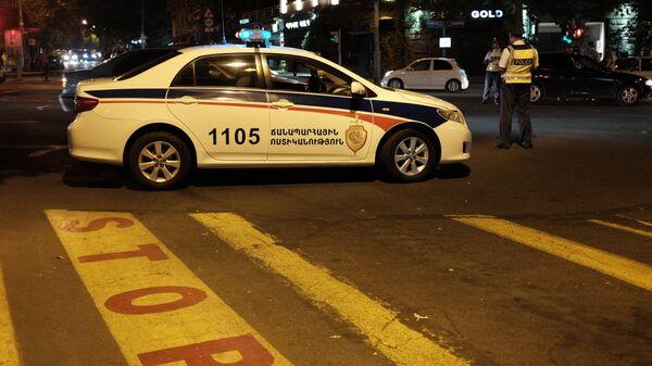 Полицейский автомобиль в Армении. Архивное фото