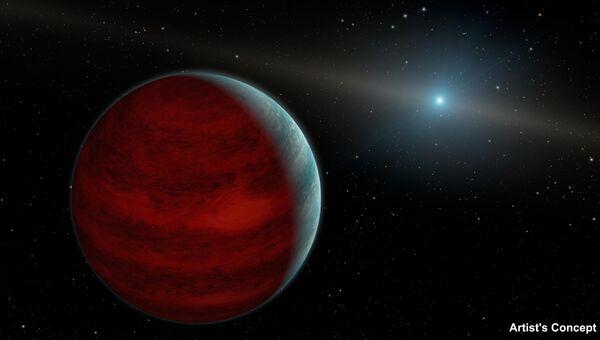 Так художник представил себе планету -вампира у звезды PG 0010+28