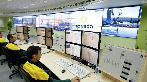 Главная операторская комплекса нефтеперерабатывающих и нефтехимических заводов ОАОТАНЕКО в Нижнекамске. Архивное фото