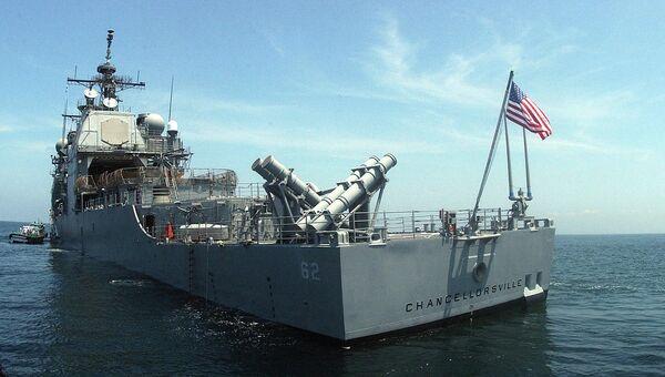 Крейсер ВМС США Chancellorsville. Архивное фото