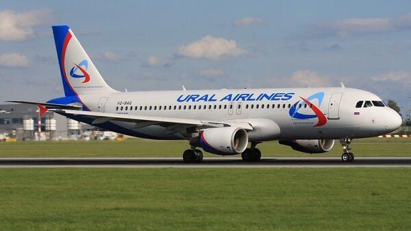 Самолет Airbus-320 авиакомпании Уральские авиалинии
