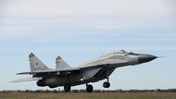 Самолет-истребитель МиГ-29 участвует в боевой тренировке в Краснодарском крае. Архивное фото