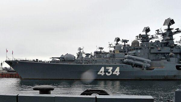 Эсминец Адмирал Ушаков в Североморске. Архивное фото
