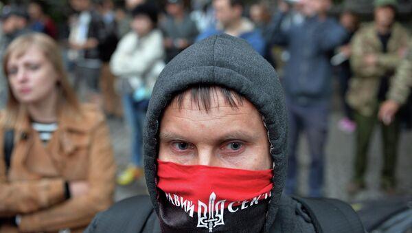 Активист Правого сектора. Архивное фото