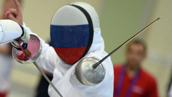 Российская шпажистка Татьяна Гудкова