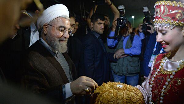 Президент Исламской Республики Иран Хасан Рухани, прибывший для участия в саммитах БРИКС и ШОС,