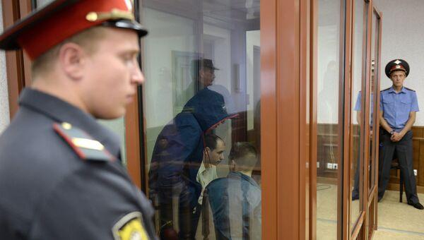 Участники банды Федоровича во время предварительных слушаний в Свердловском областном суде