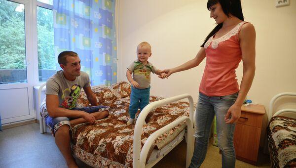 Пункт размещения украинских беженцев в Новосибирске. Архивное фото